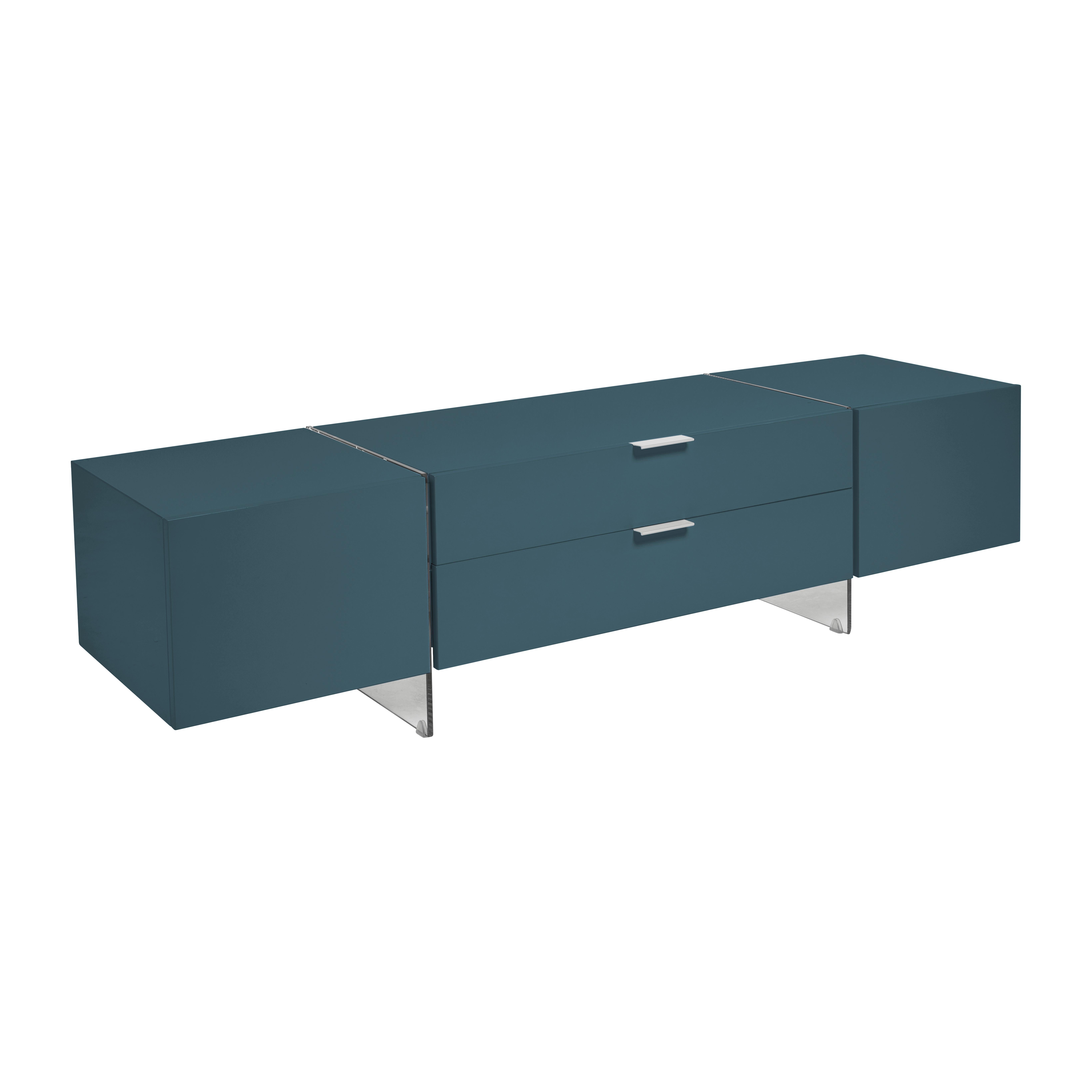 Sturado TV unit teal gloss