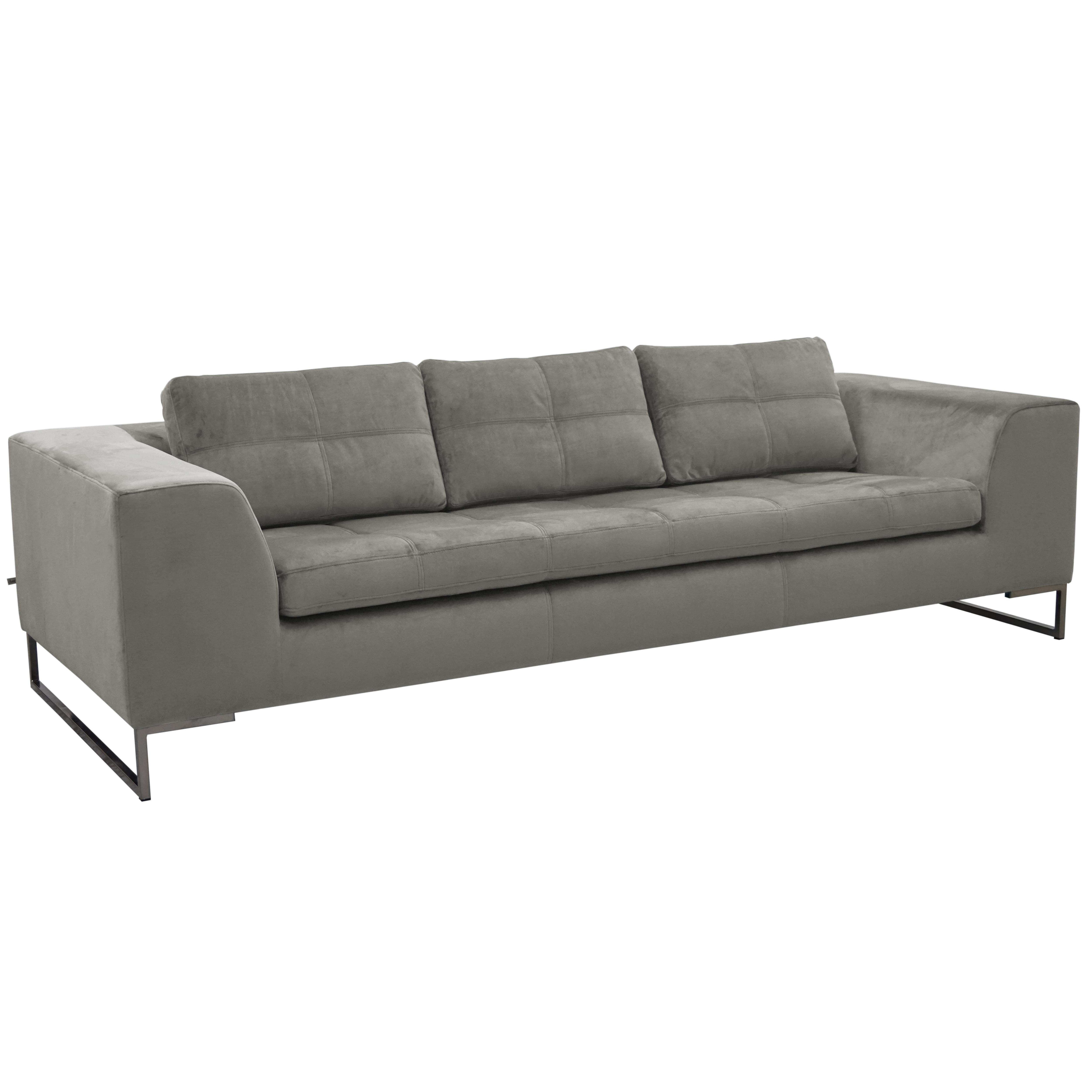 Toleda three seater sofa alba velvet grey