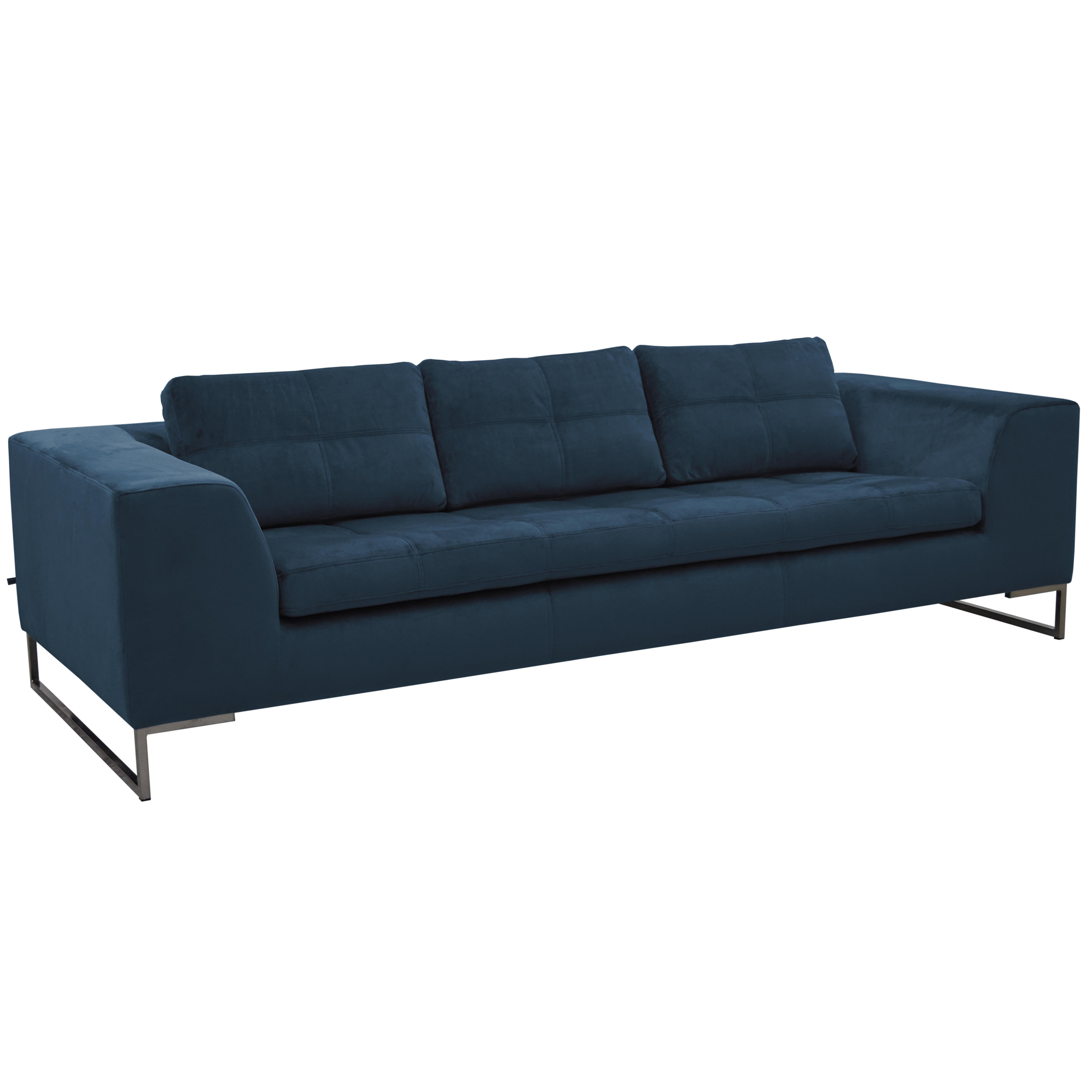 Toleda three seater sofa alba velvet blue