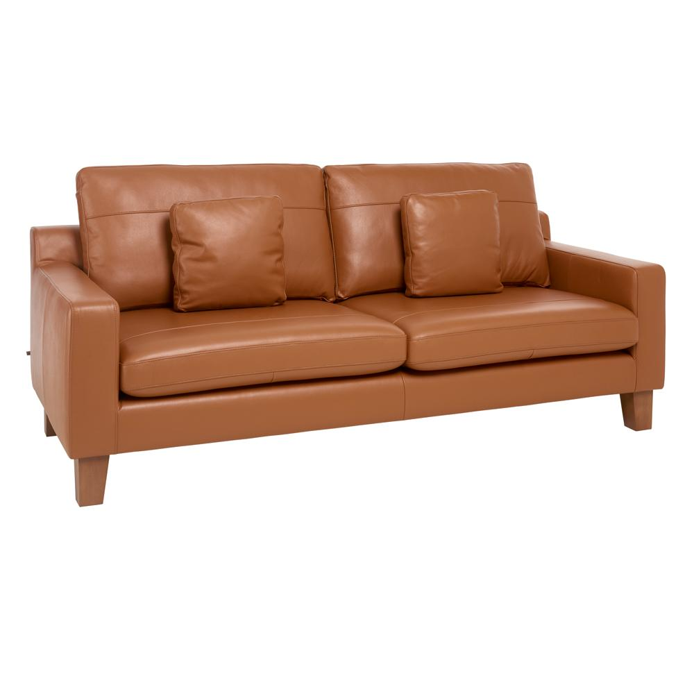Ankara II three seater sofa grano leather natural tan