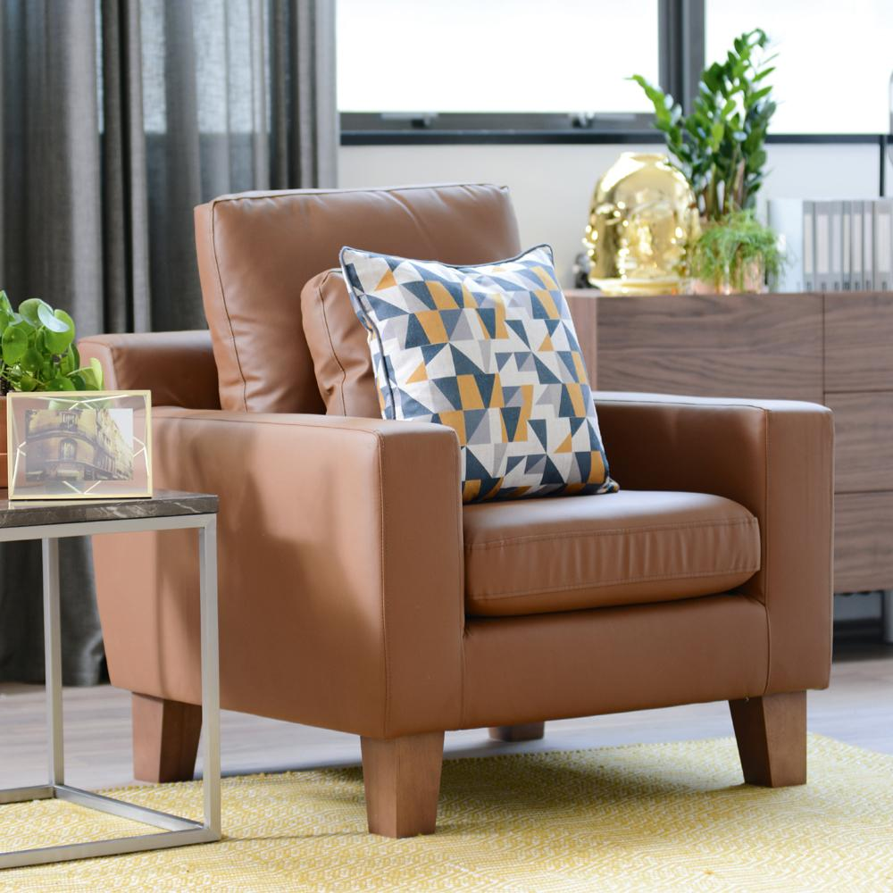 Ankara II armchair grano leather natural tan