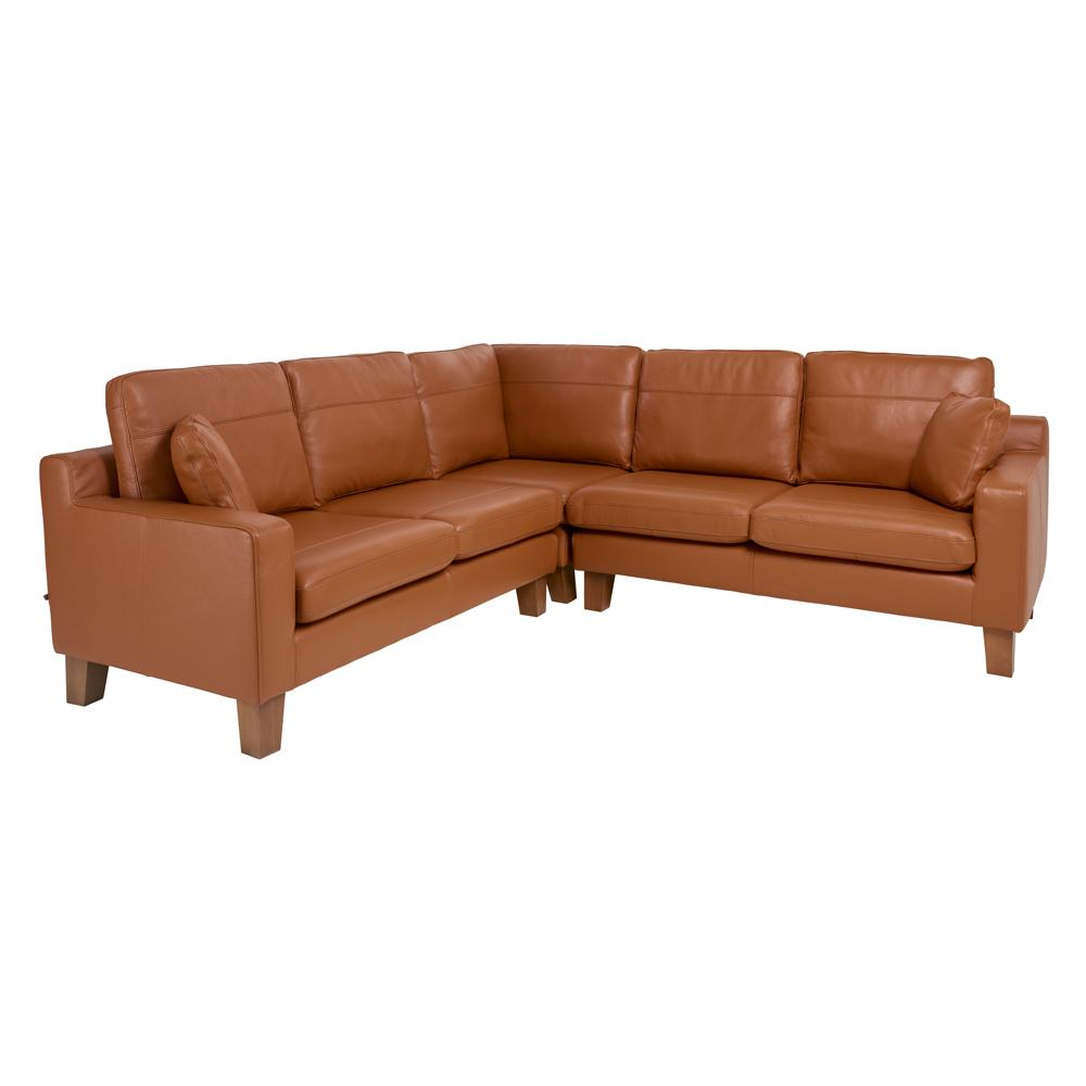 Ankara II full corner sofa grano leather natural tan