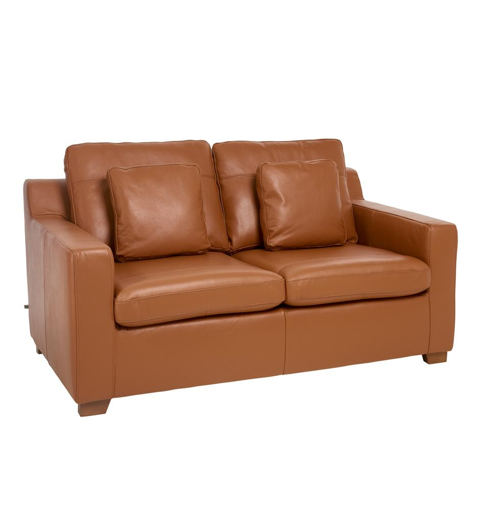 Ankara II two seater sofabed grano leather natural tan