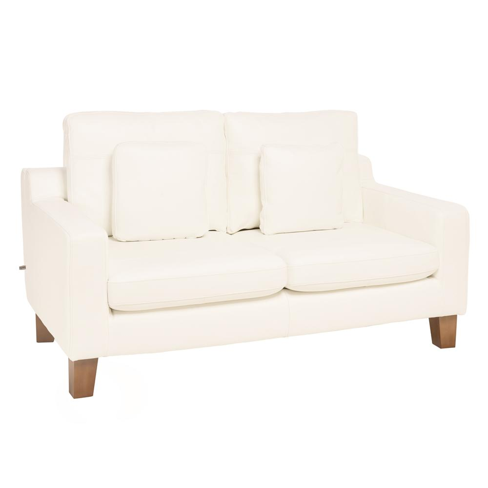 Ankara II two seater sofa grano leather brilliant white
