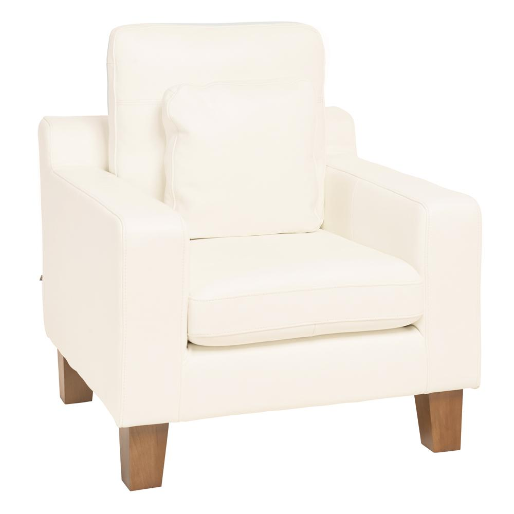 Ankara II armchair grano leather brilliant white