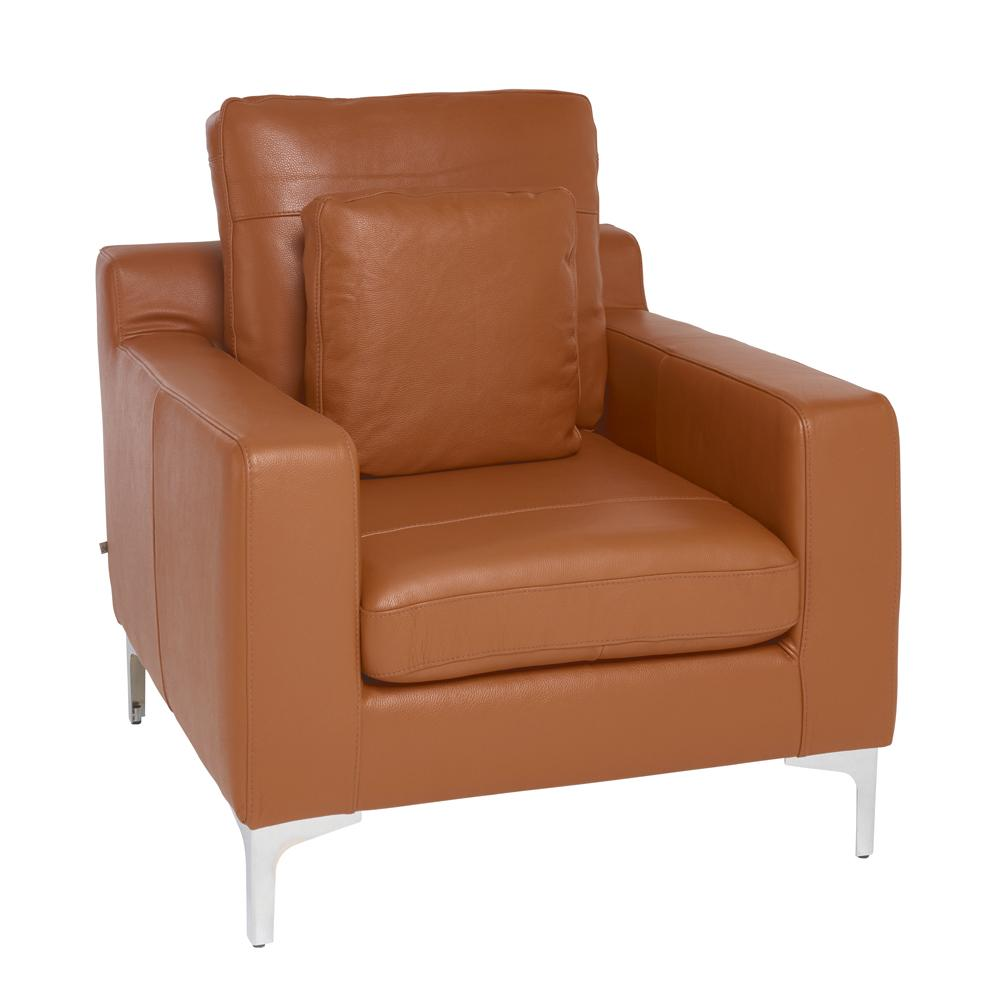 Savio armchair grano leather natural tan