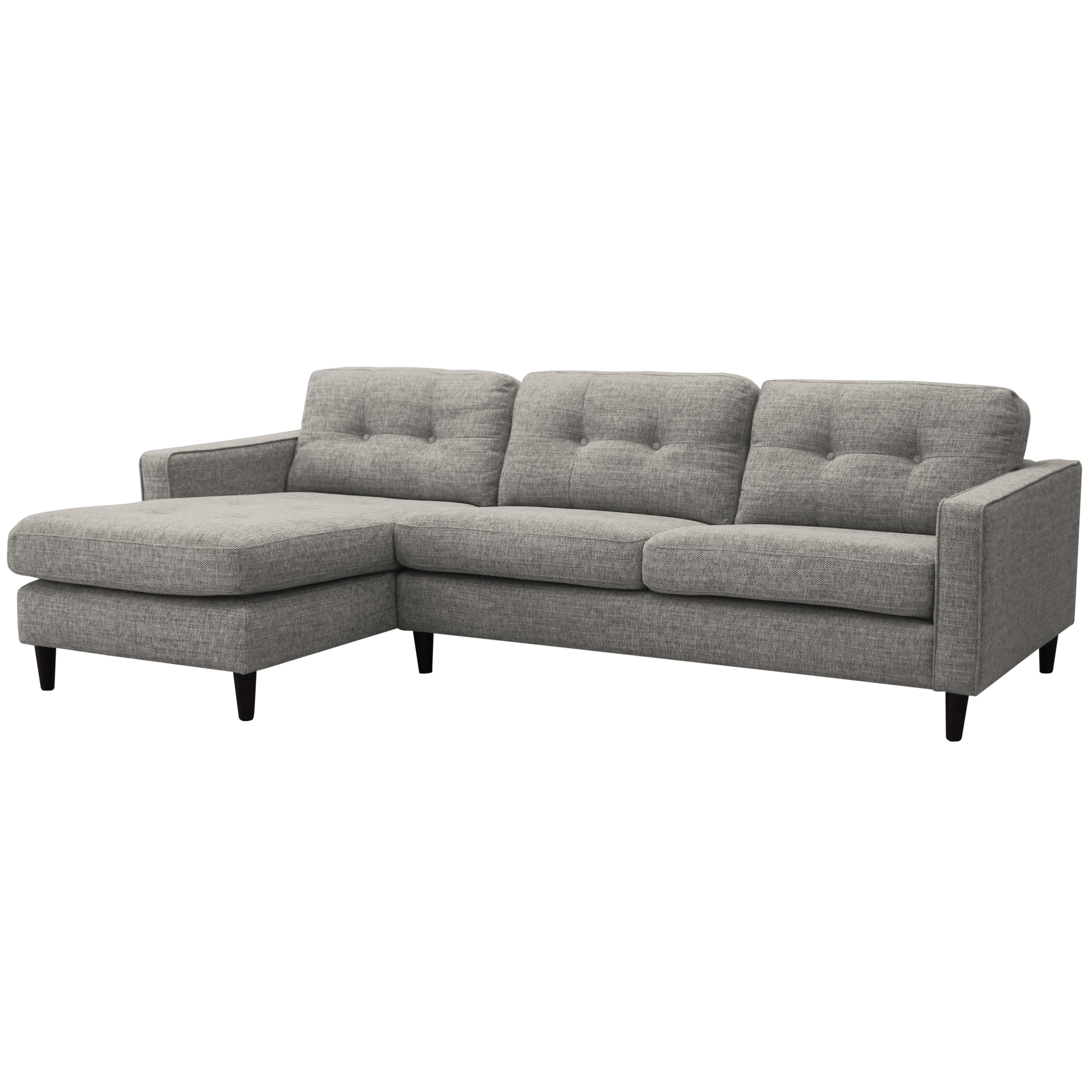 Bergen left hand facing four seater chaise sofa callida grey