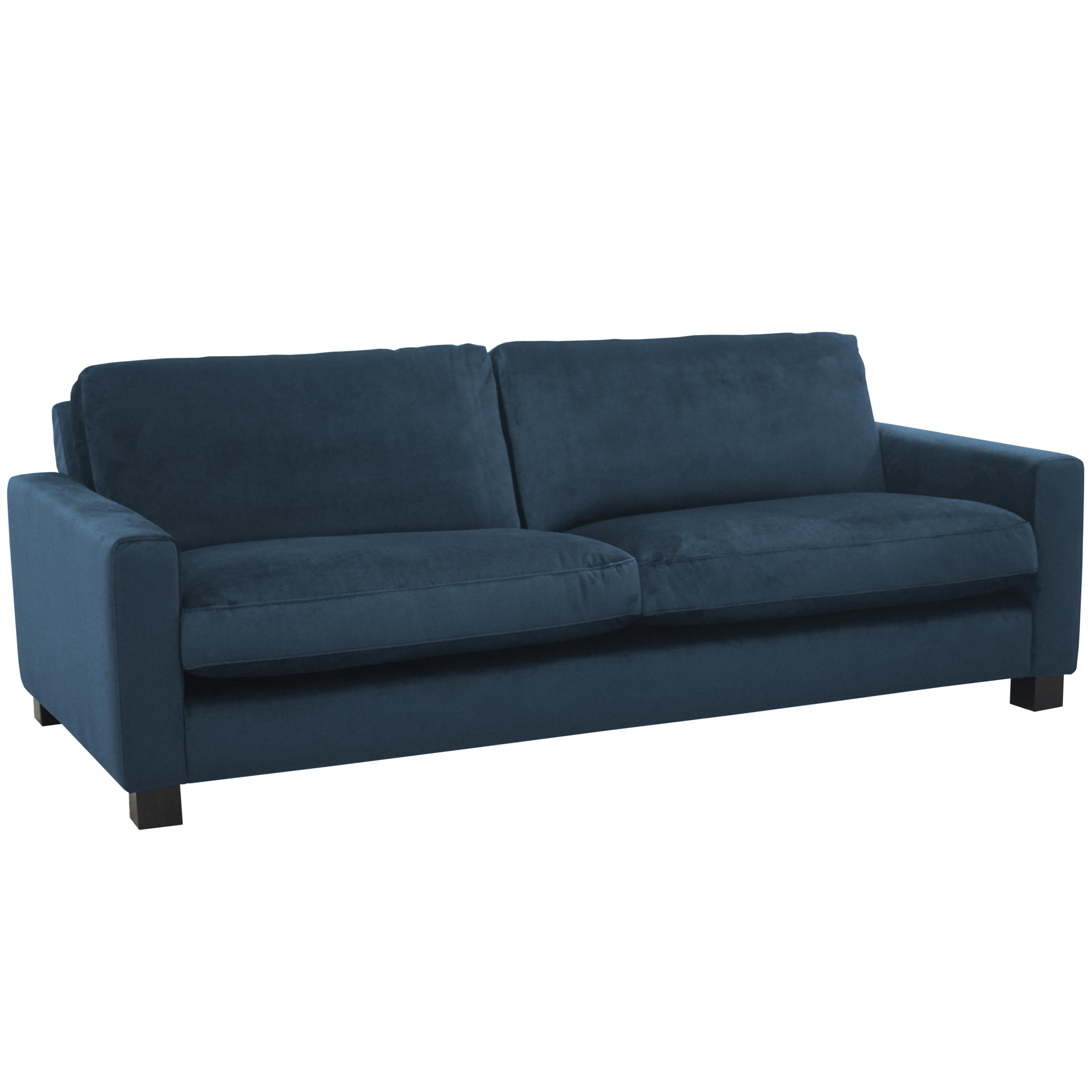 Monaco three seater sofa alba velvet blue