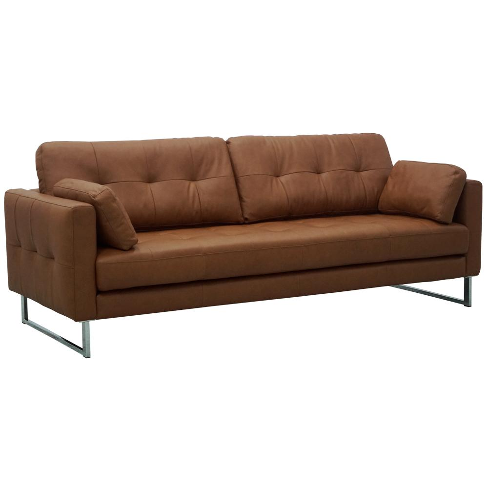 Paris II four seater sofa mollis leather chestnut