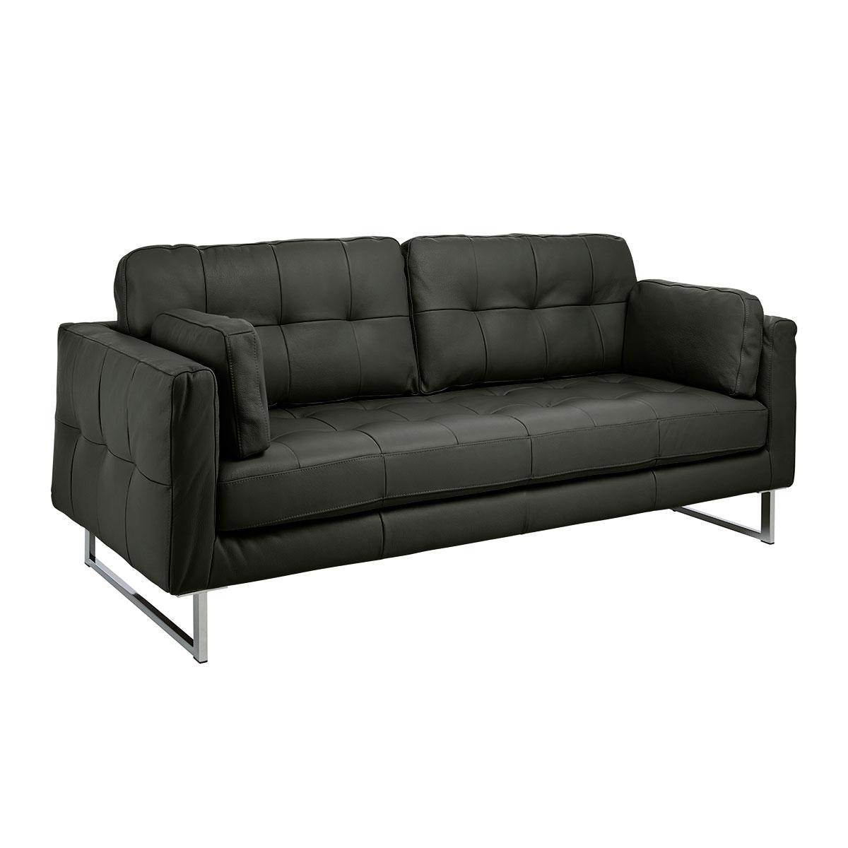 Paris II three seater sofa mollis leather dark green