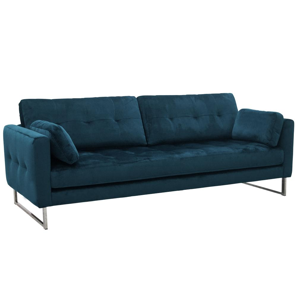 Paris II four seater sofa alba velvet blue