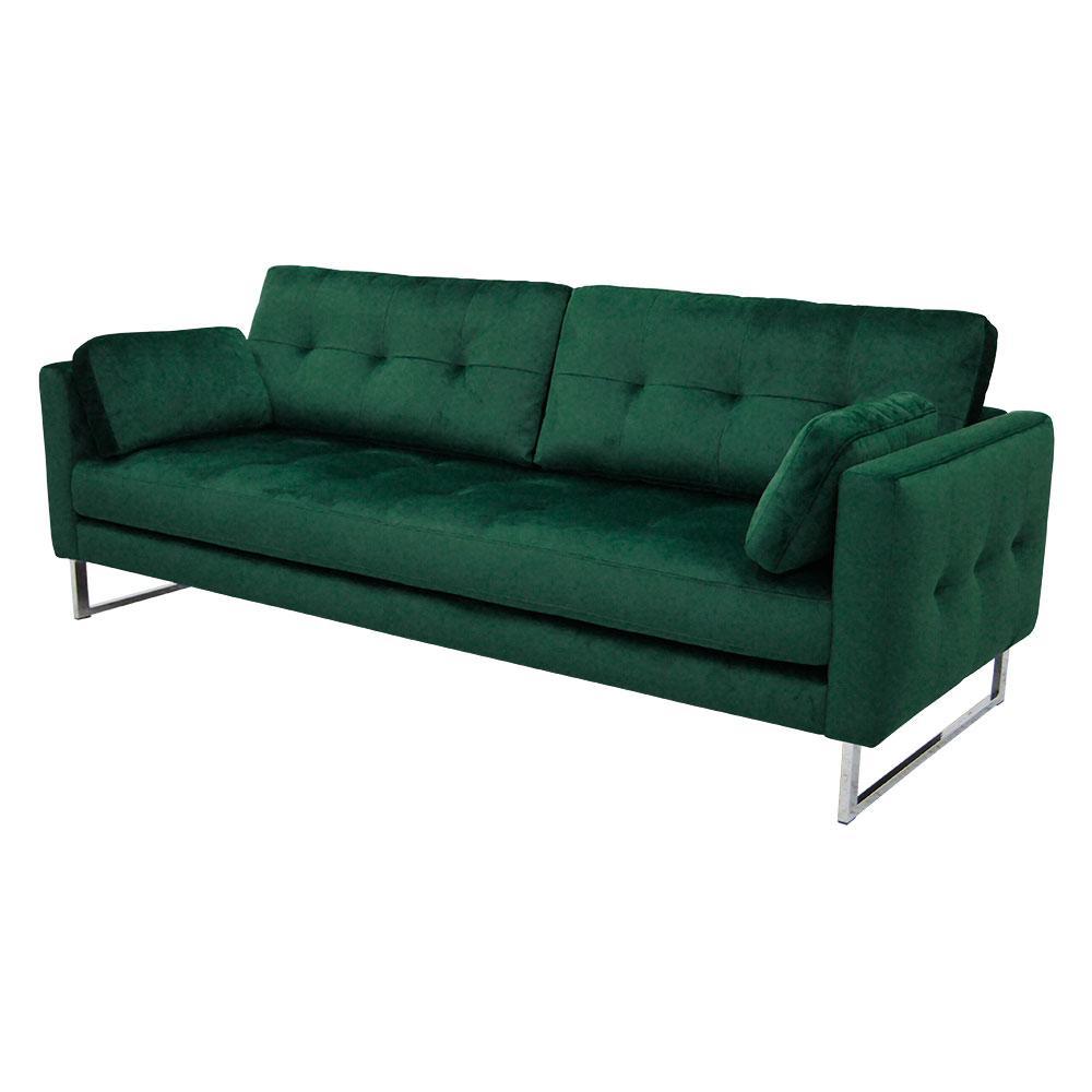 Paris II three seater sofa alba velvet forest green