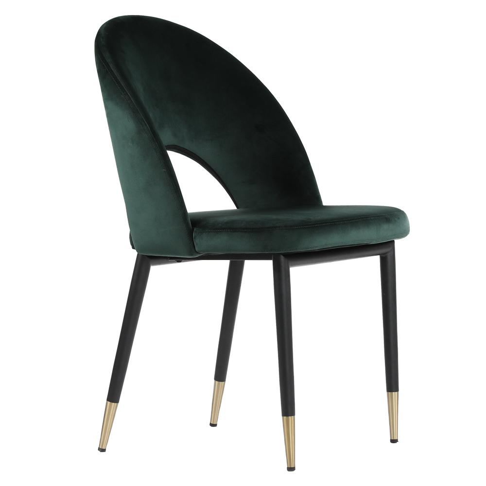Comida velvet dining chair green