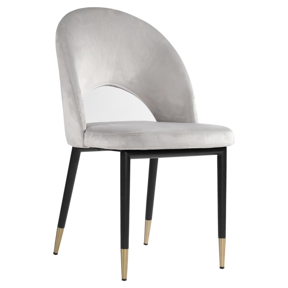 Comida velvet dining chair light grey