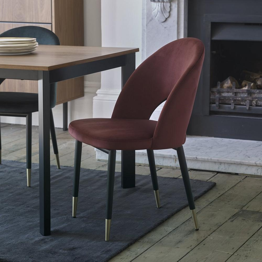 Comida dining chair burgundy velvet