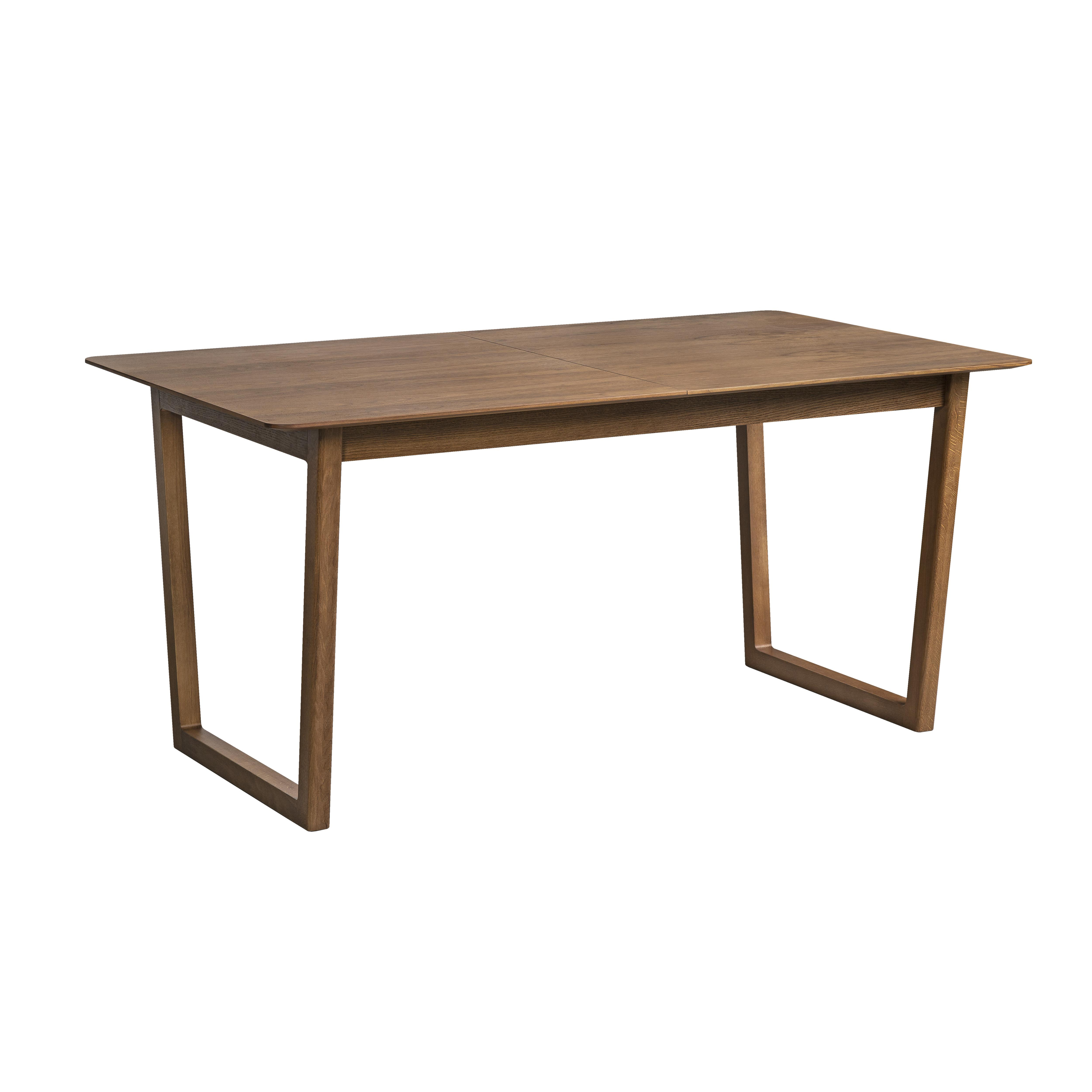 Ease double extending 4-6 seater dining table walnut