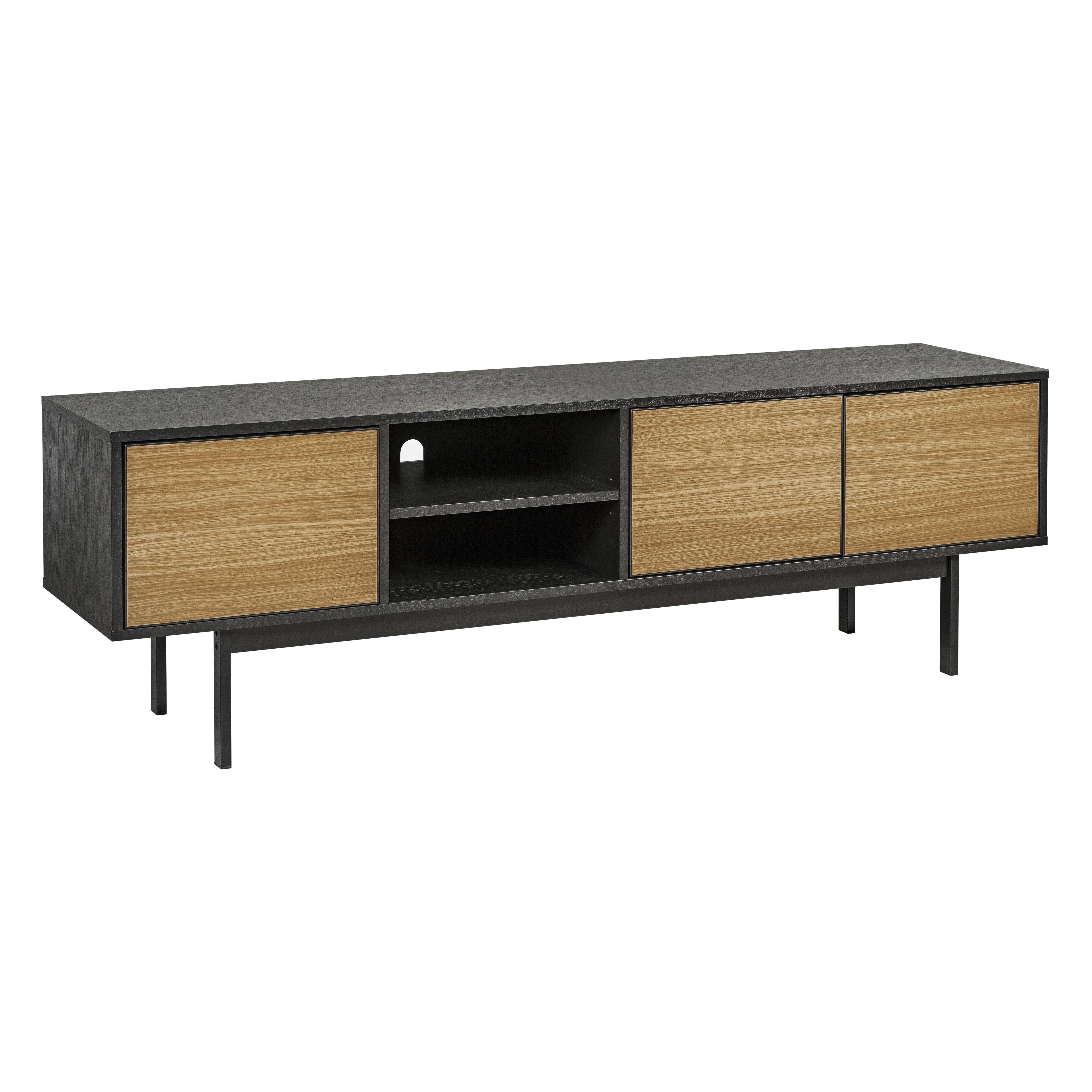 Telaio TV unit oak and black