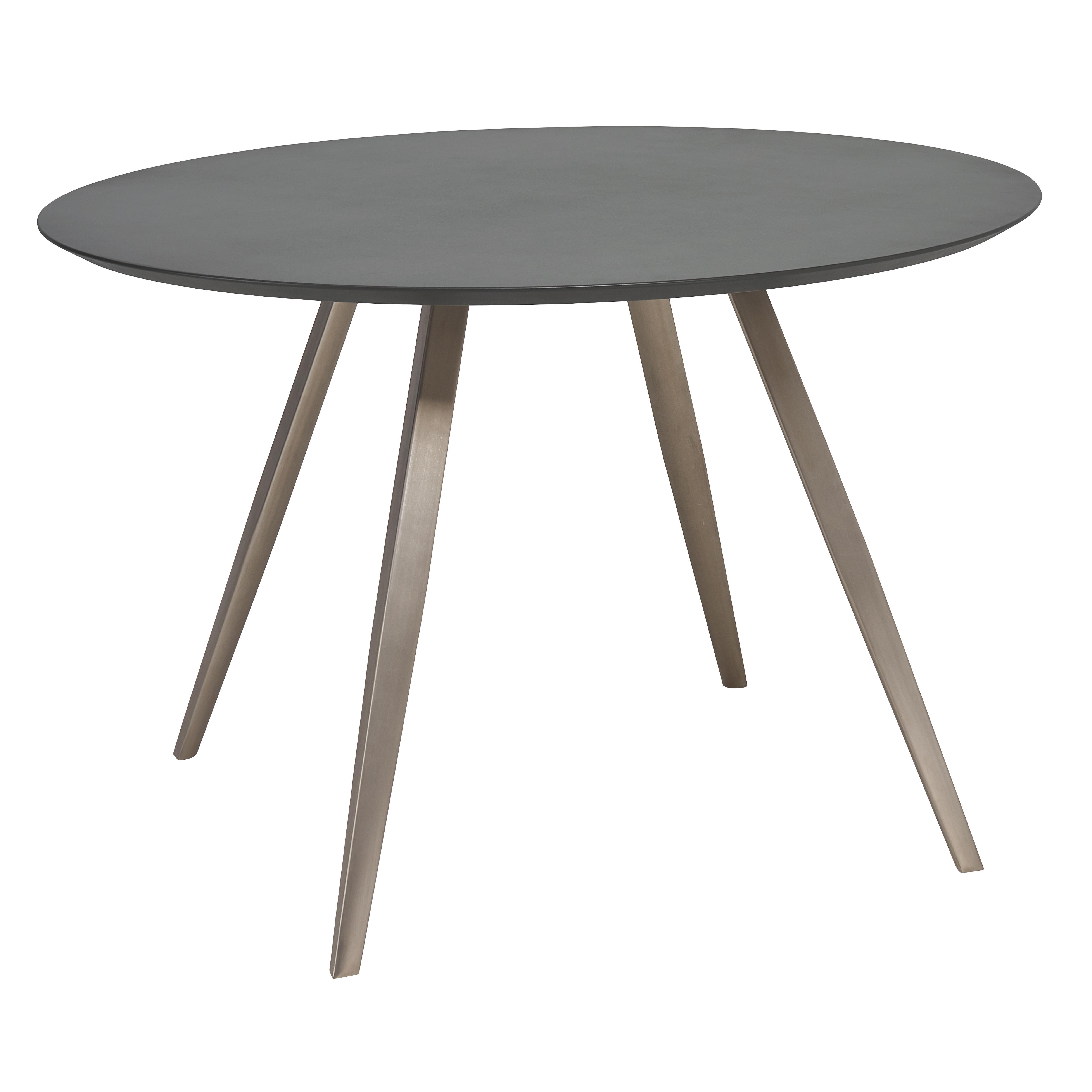 Passare round 4-6 seater dining table 120cm grey