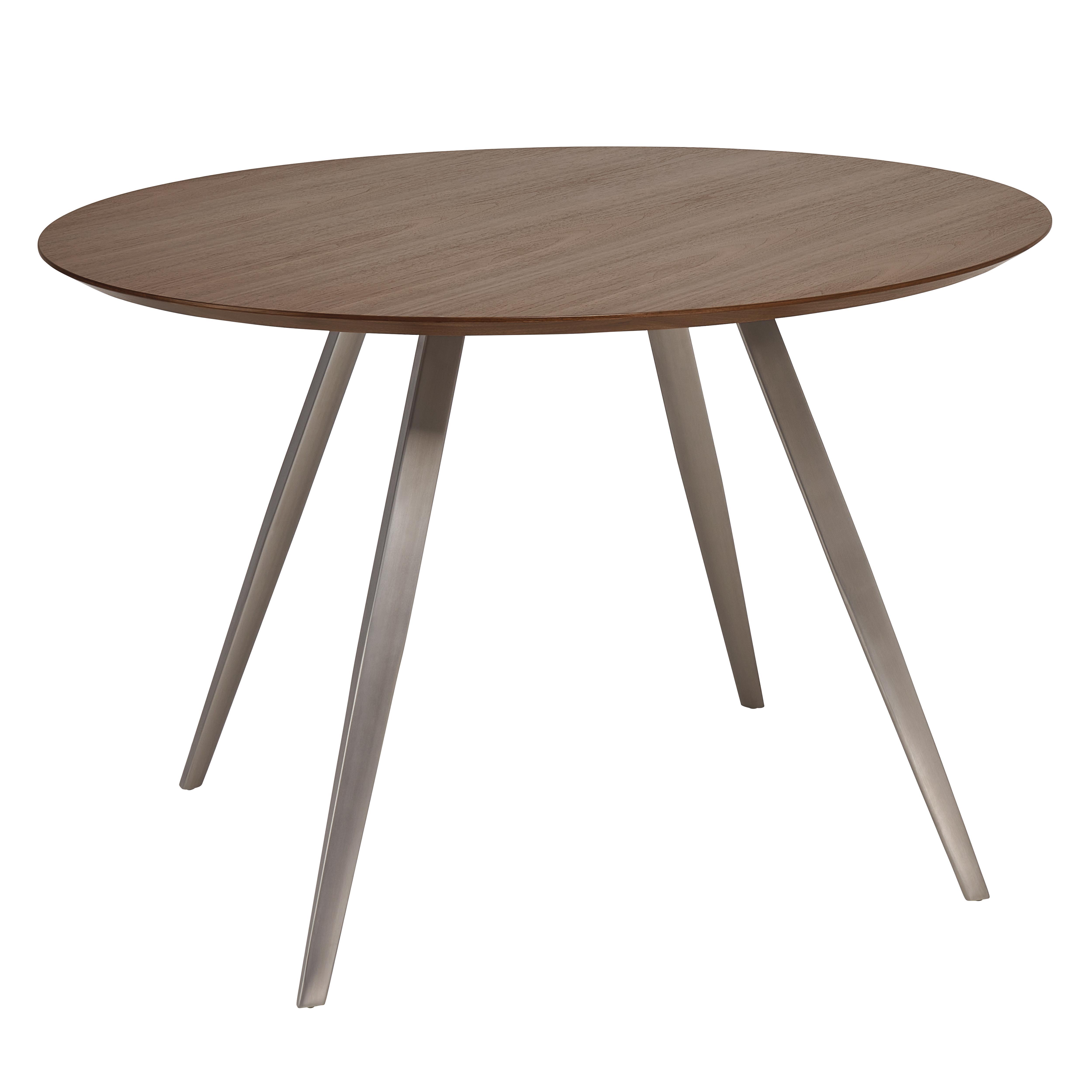 Passare round 4-6 seater dining table 120cm walnut