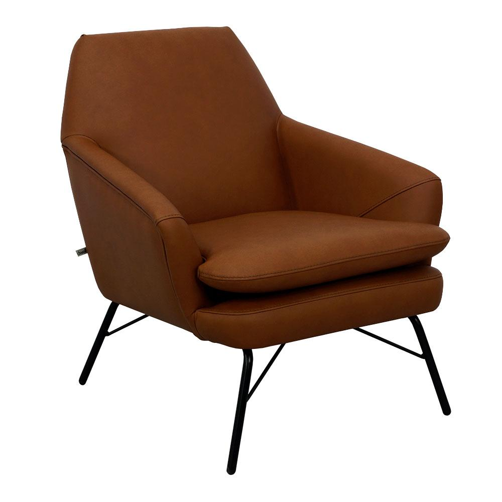 Acuta accent chair mollis leather chestnut