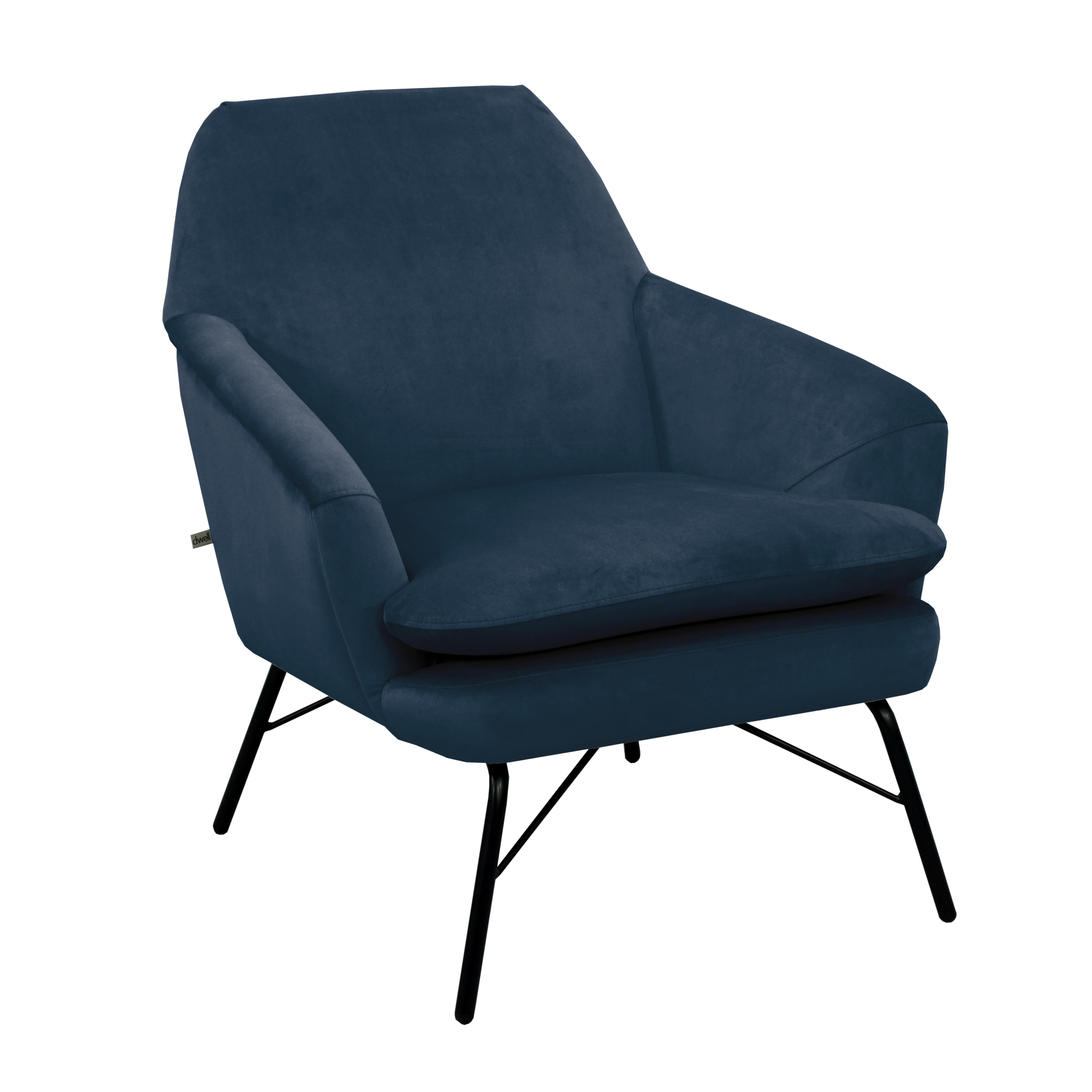 Acuta accent chair alba velvet blue