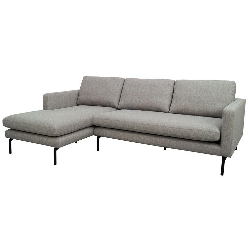 Modena left hand facing chaise sofa modeda grey