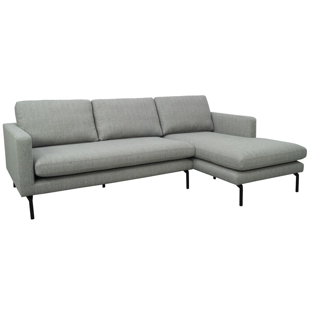 Modena right hand facing chaise sofa modeda grey