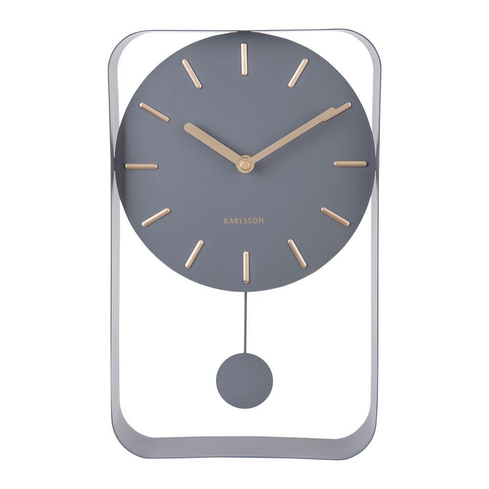 Endolo small pendulum wall clock in steel grey