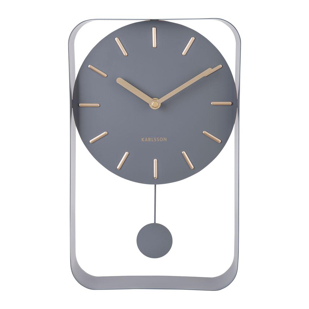 Endolo small pendulum wall clock in steel grey