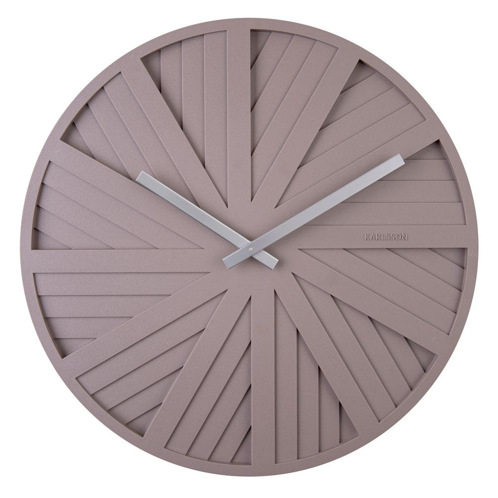 Slides wall clock grey by Chantal Drenthe