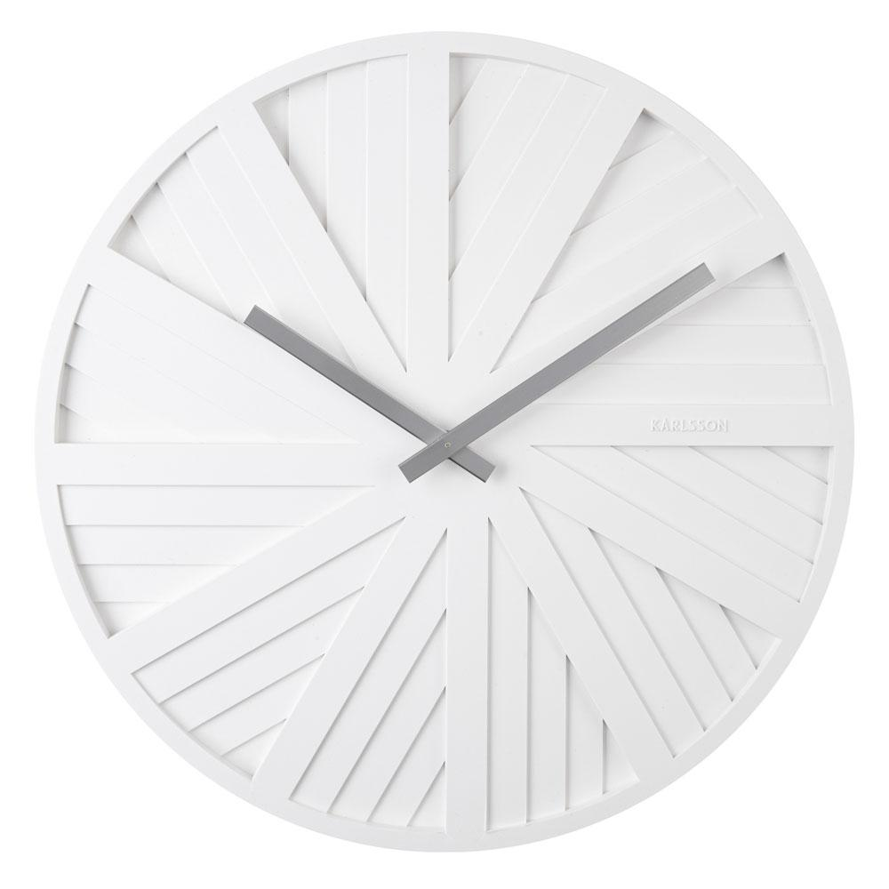 Slides wall clock white by Chantal Drenthe