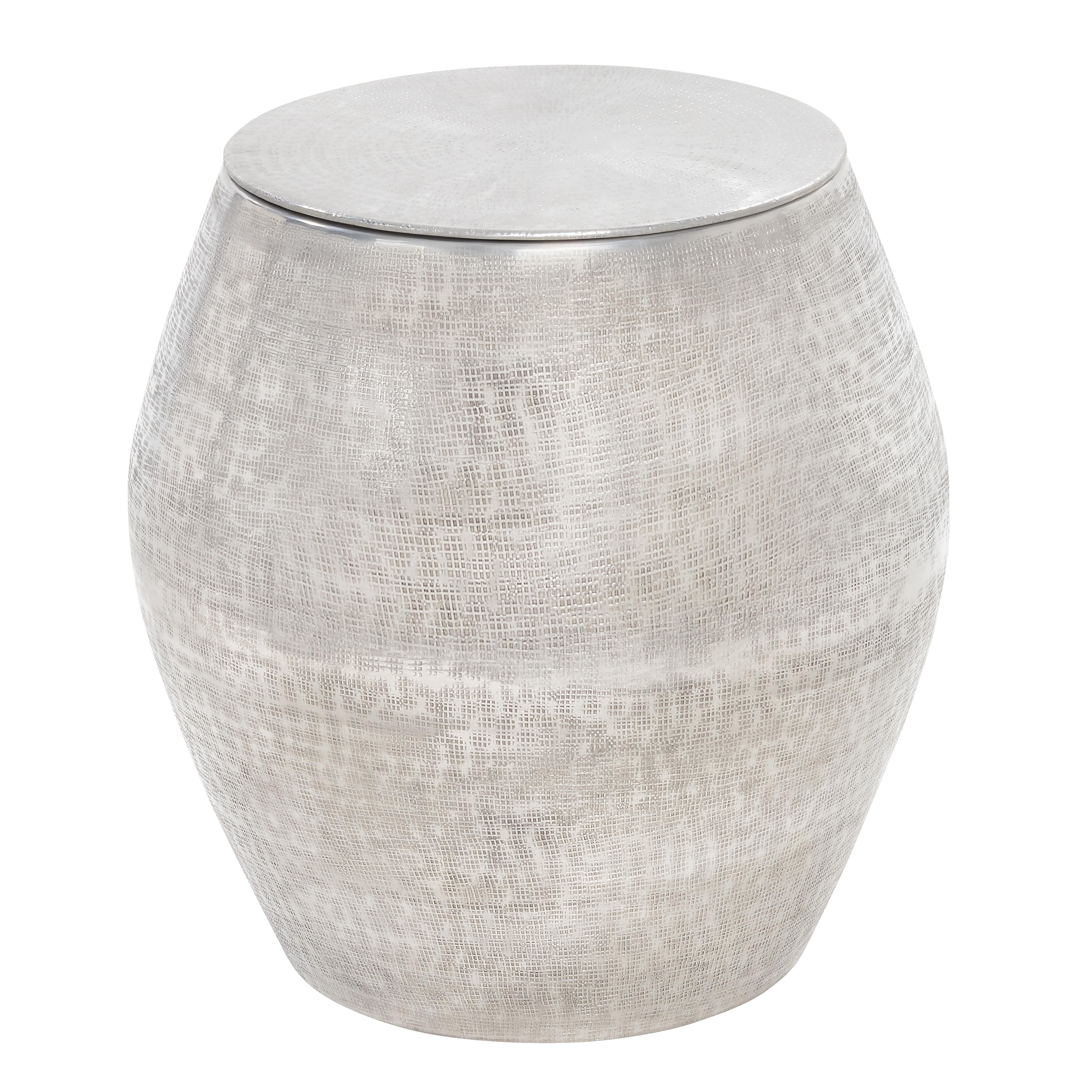Heban metal side table silver