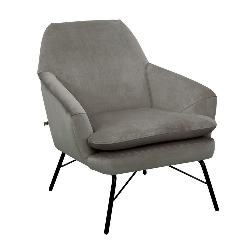 Acuta accent chair alba velvet grey