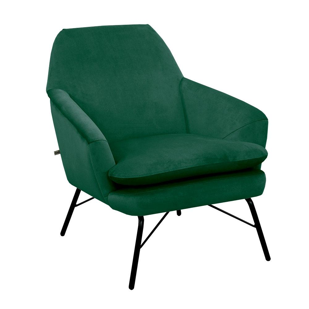 Acuta accent chair alba velvet forest green