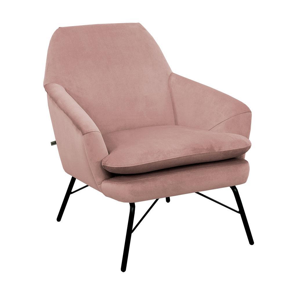 Acuta accent chair alba velvet dusky pink