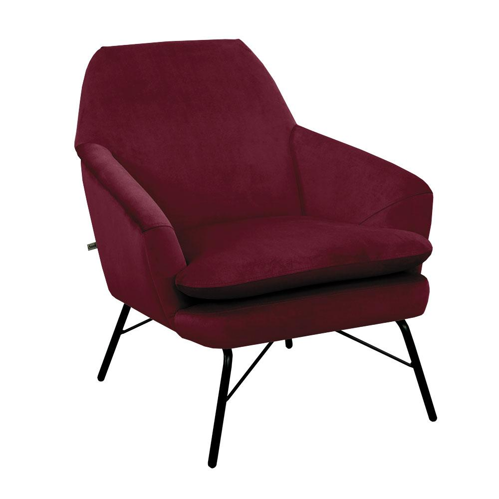 Acuta accent chair alba velvet burgundy