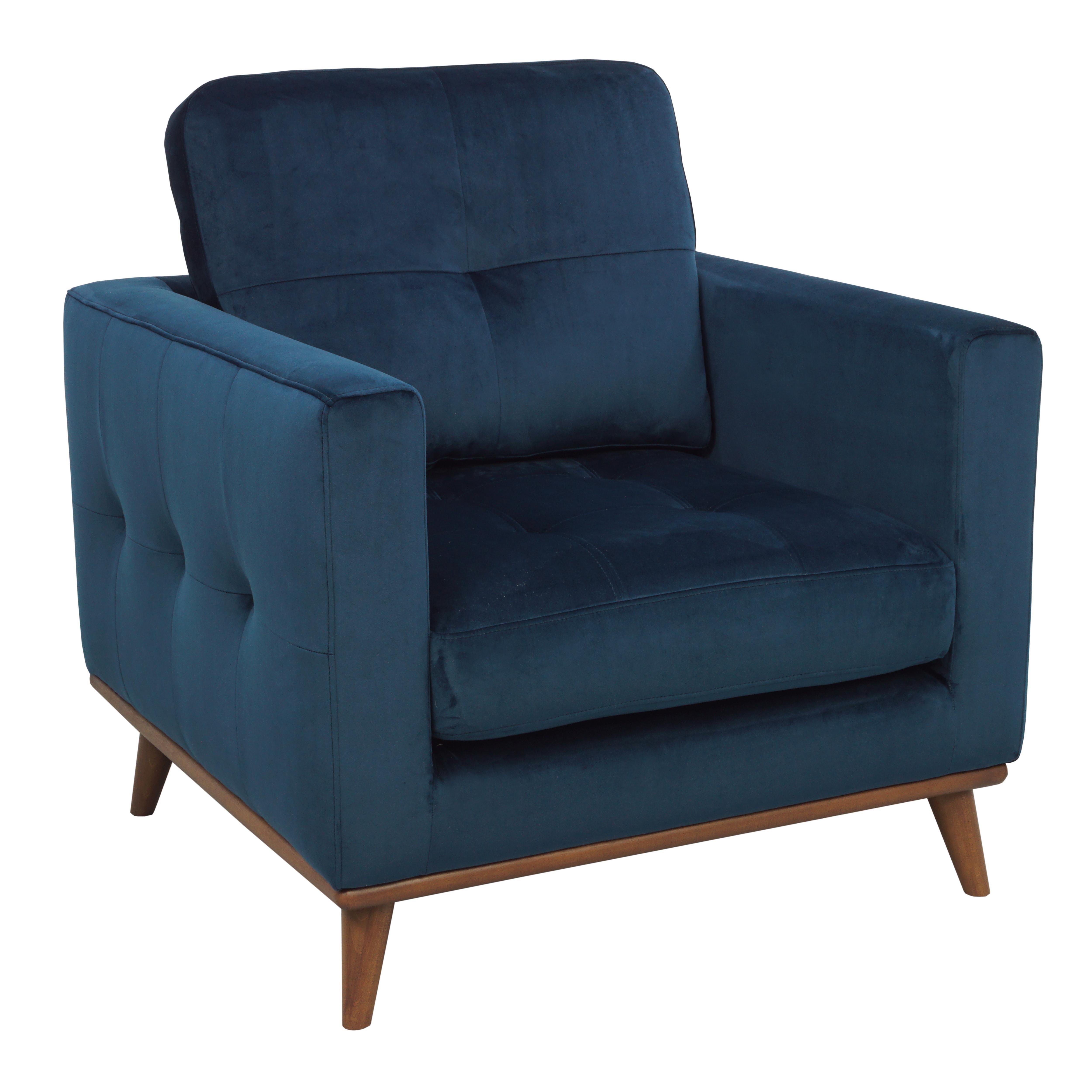 Albi armchair alba velvet blue