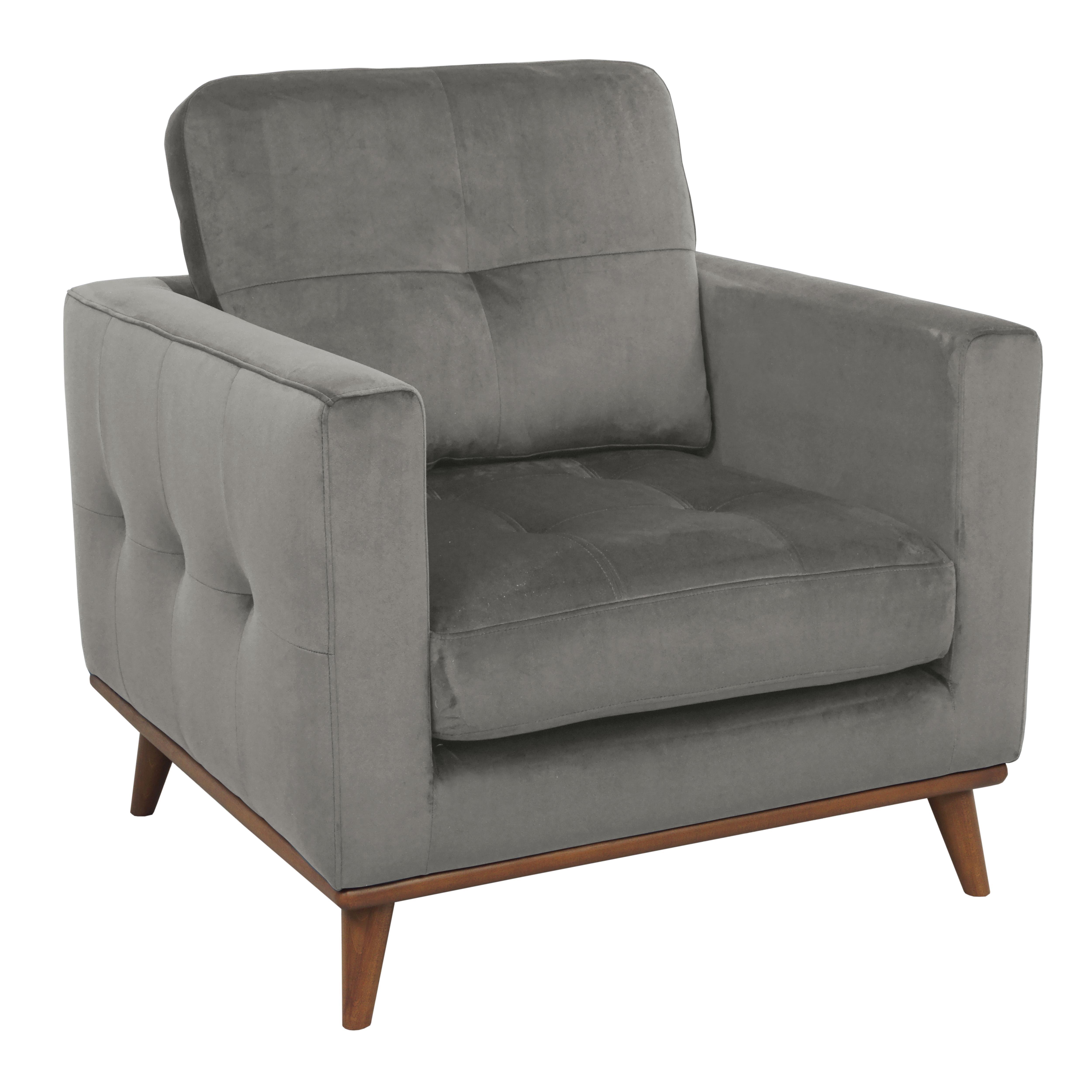 Albi armchair alba velvet grey