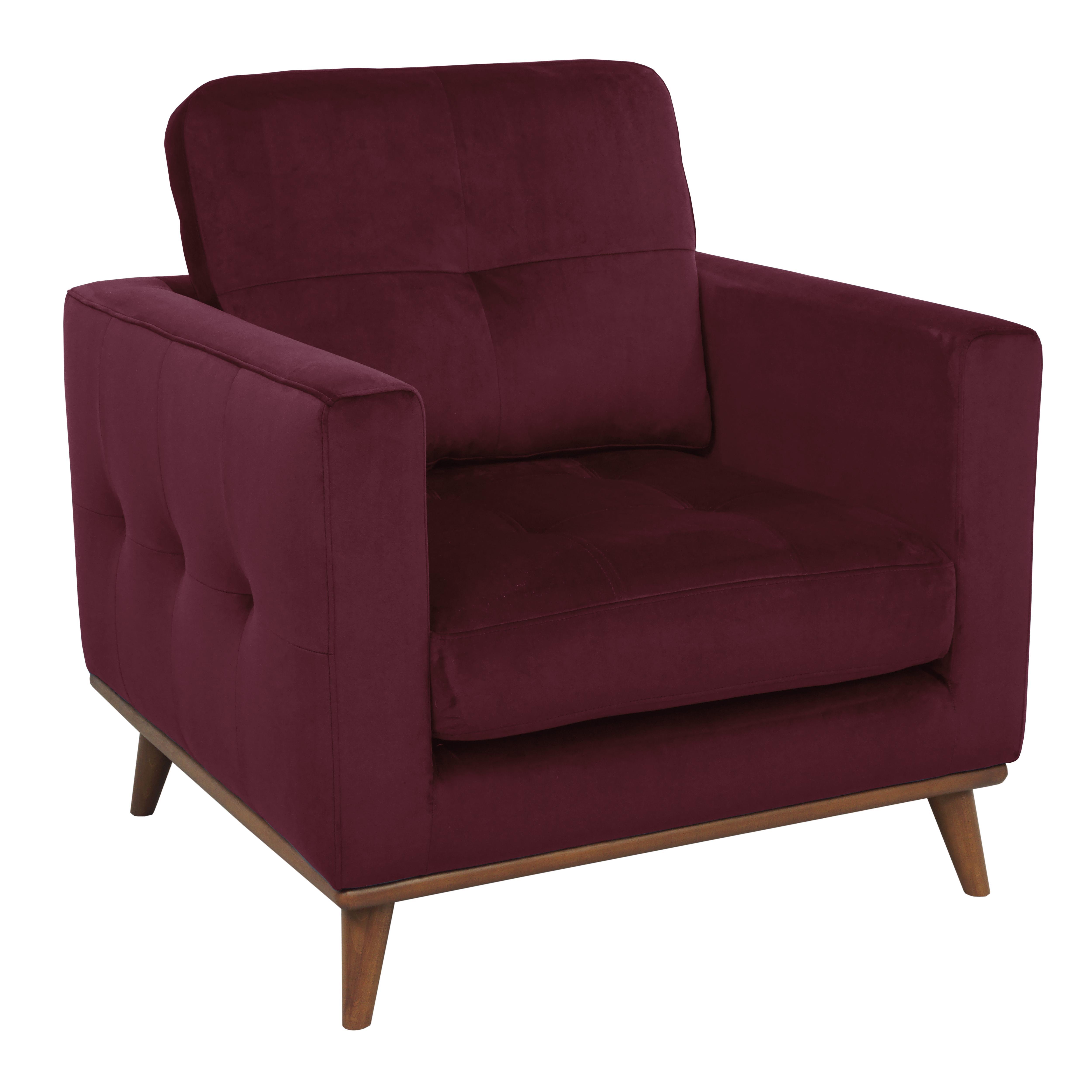 Albi armchair alba velvet burgundy