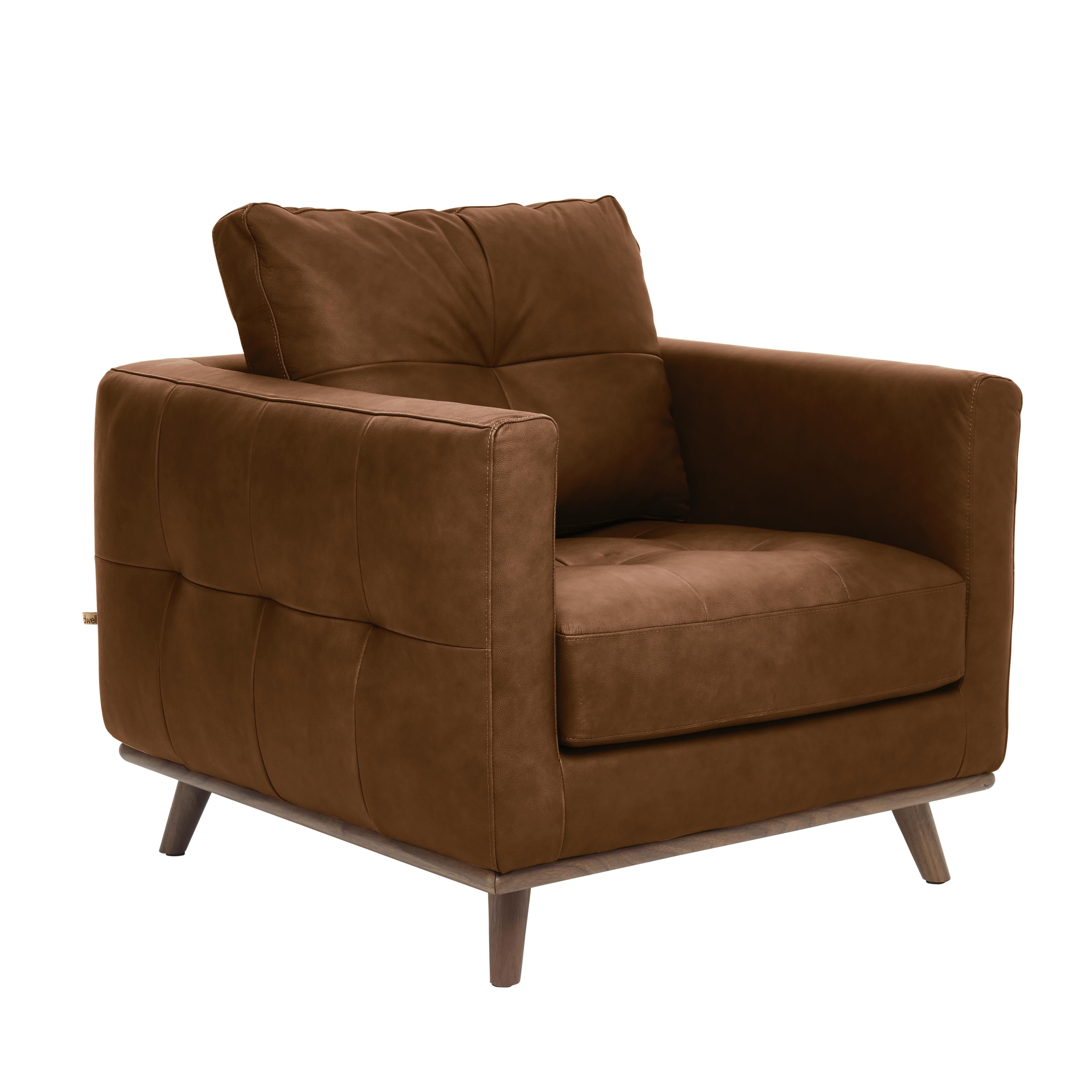 Albi armchair grano leather natural tan