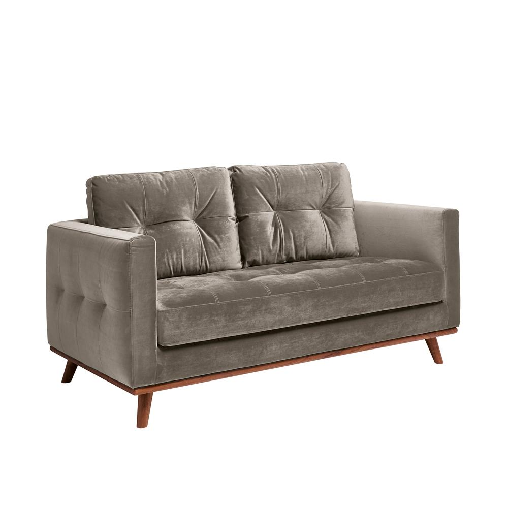Albi two seater sofa alba velvet grey