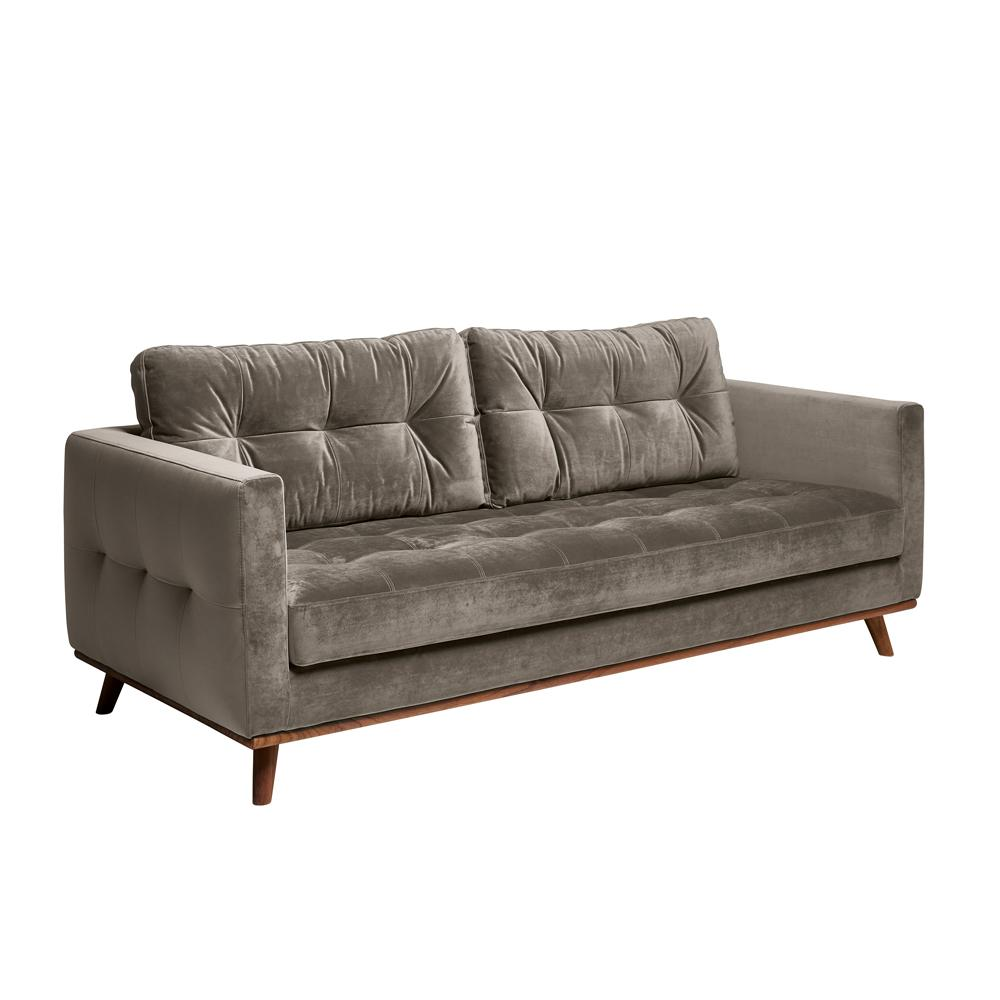 Albi three seater sofa alba velvet grey