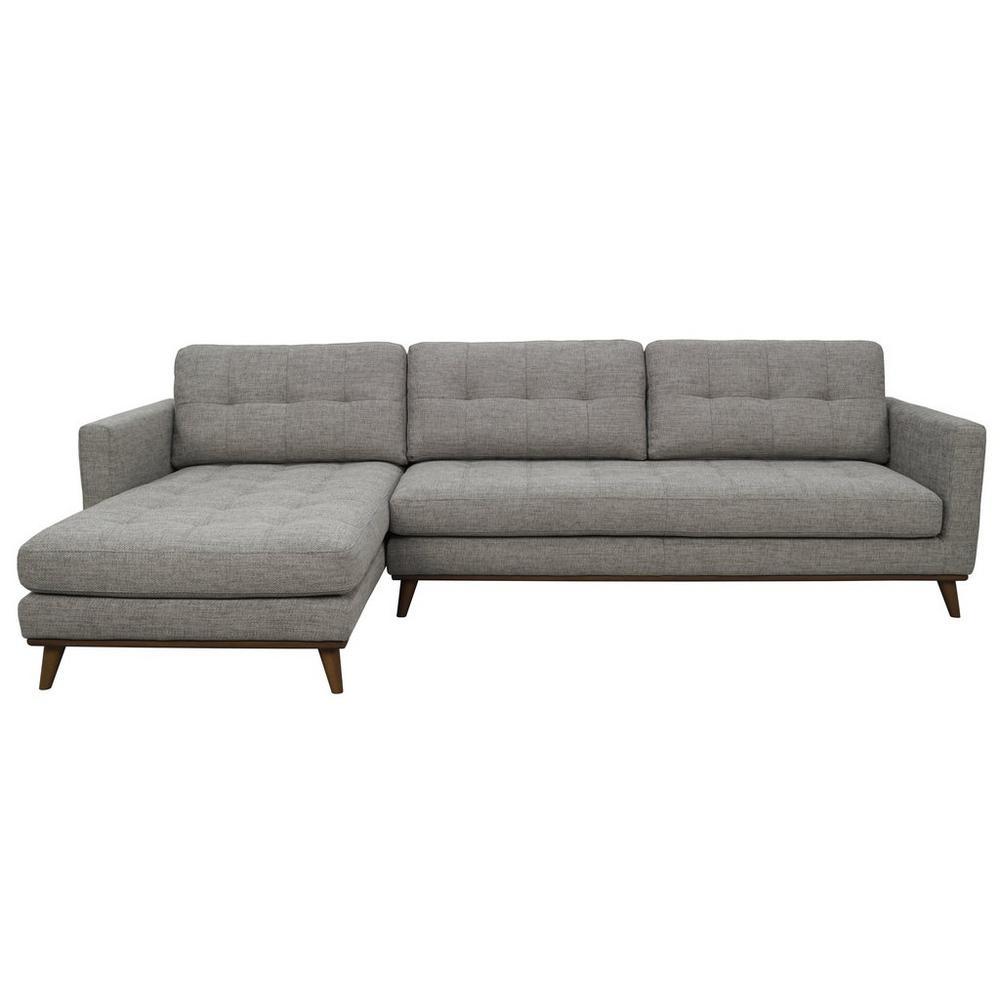 Albi Left Hand Facing Four Seater Chaise Sofa Callida Grey Dwell