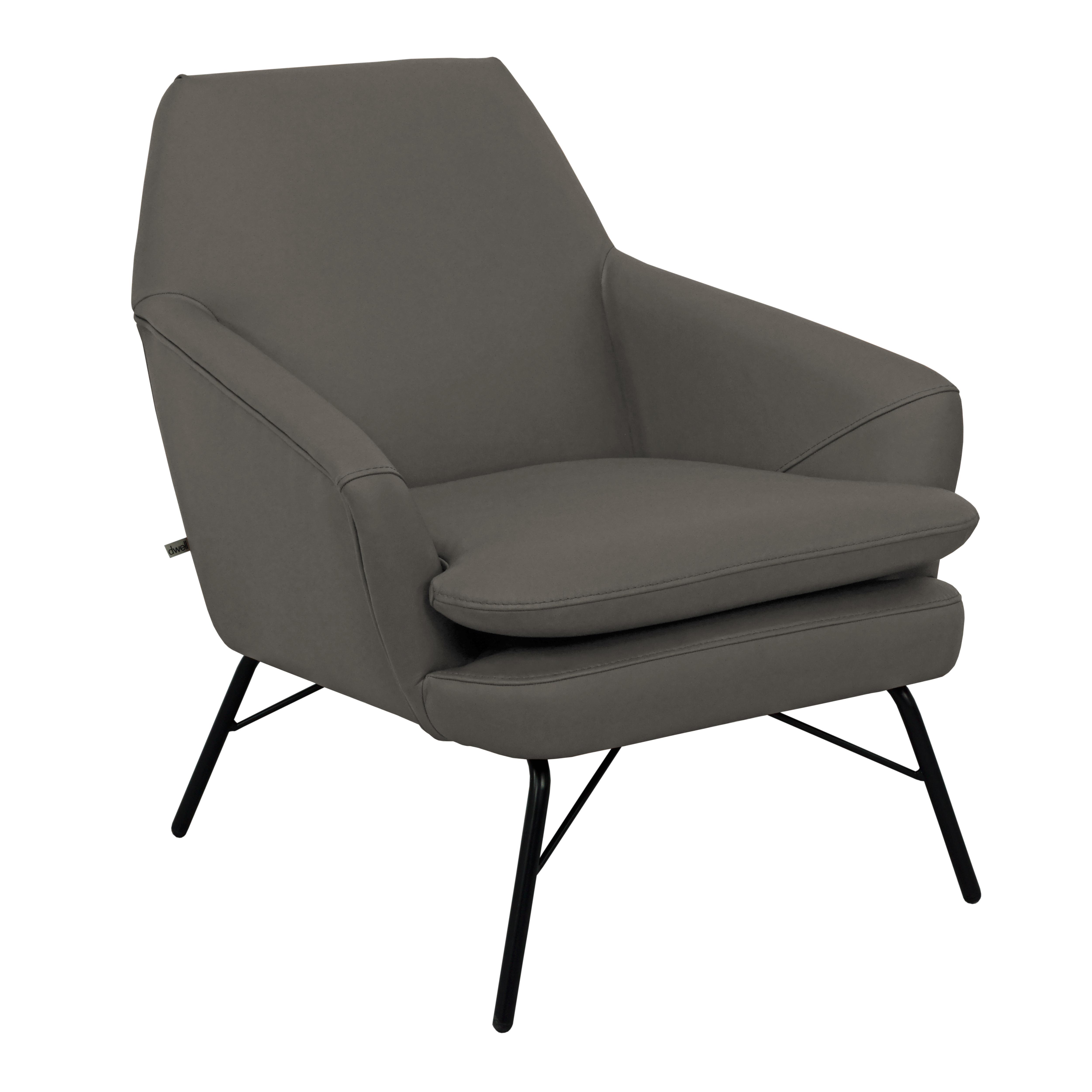 Acuta accent chair mollis leather dark grey