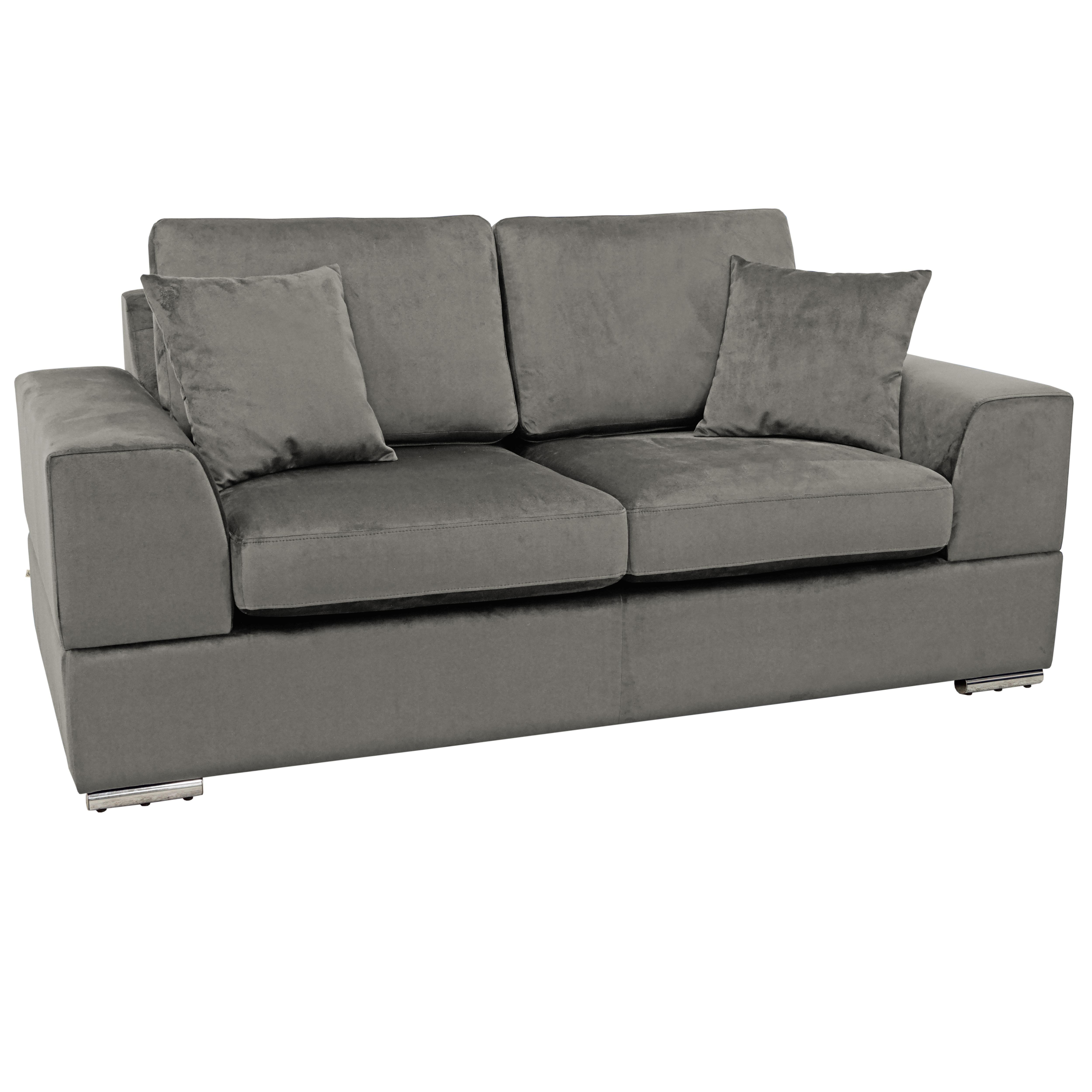 Varenna two seater sofa alba velvet grey