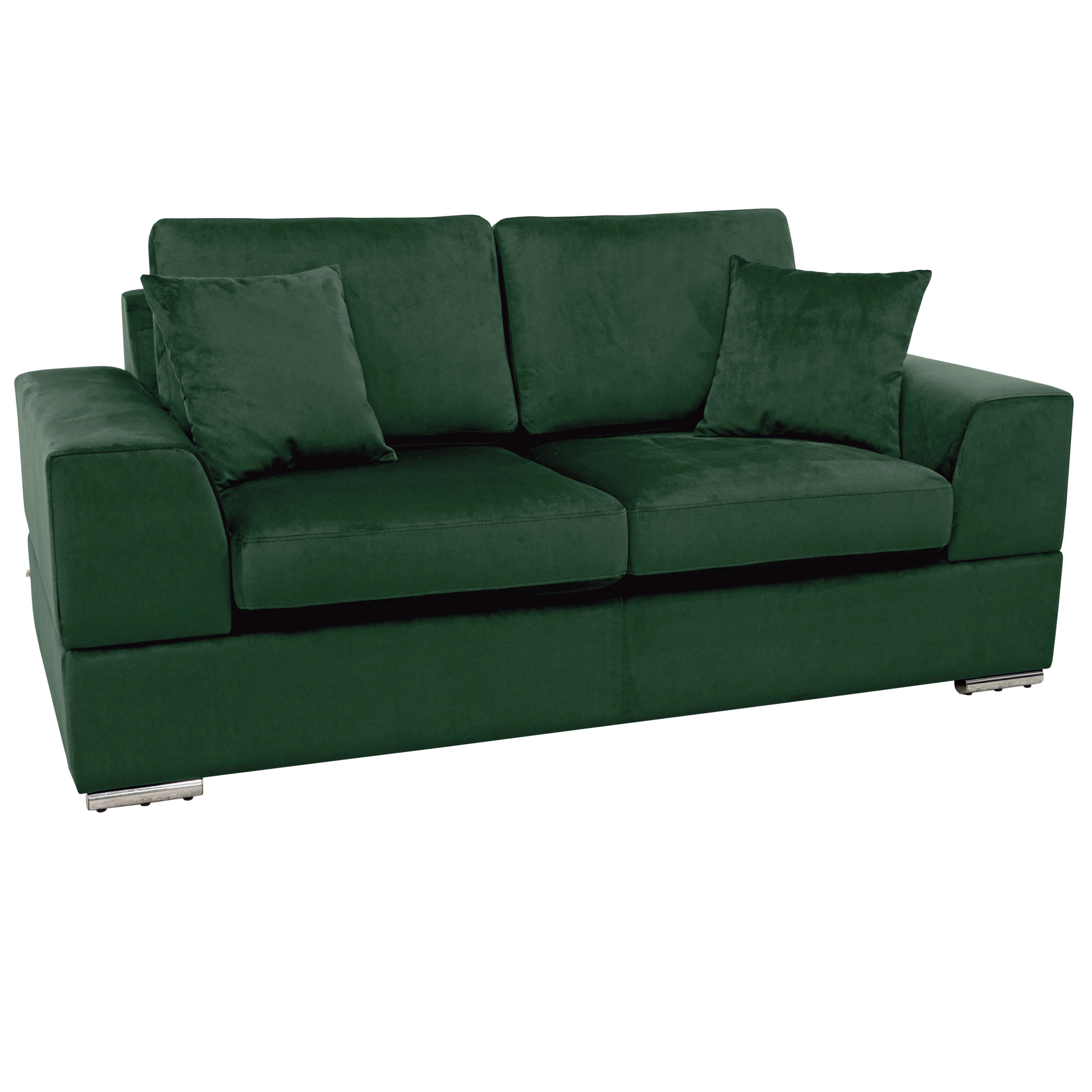 Varenna two seater sofa alba velvet forest green