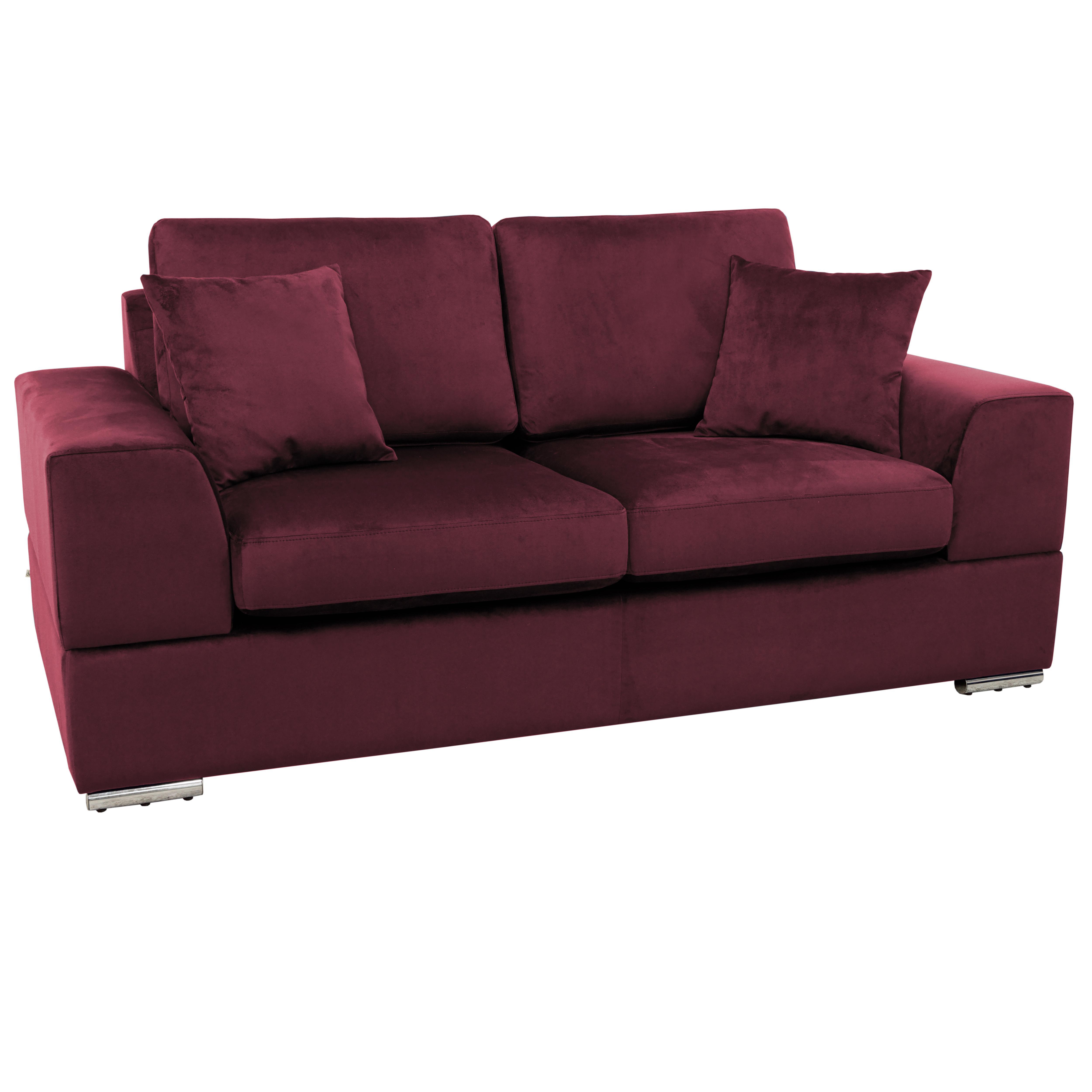 Varenna two seater sofabed alba velvet burgundy