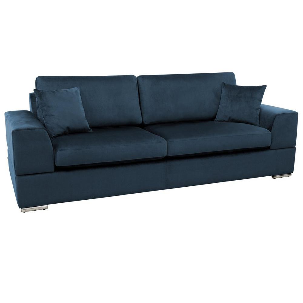 Varenna three seater sofa alba velvet blue