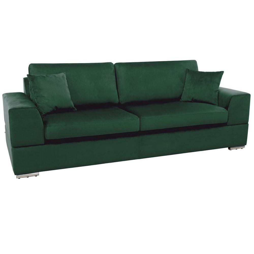 Varenna three seater sofabed alba velvet forest green