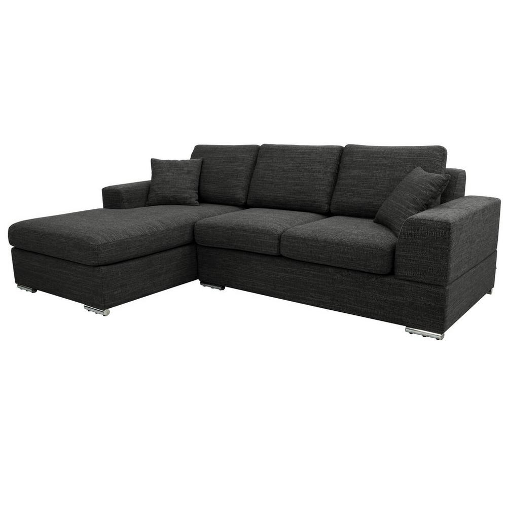 Varenna left hand facing arm four seat chaise end sofa callida charcoal